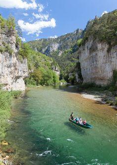 La Malène, Lozère, Gorges du Tarn, les Détroits, Languedoc-Roussillon_ France