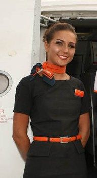 Easy Jet, Sensible Shoes, Airline Flights, Cabin Crew, Flight Attendant, Polo Ralph Lauren, Europe, Female, Lady