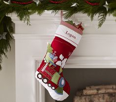 Stocking for Baby Boy Quilted Stocking Collection | Pottery Barn Kids