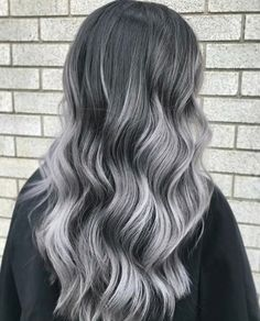 Check out these gorgeous gray hairstyles. Gray hair ,gray highlights, gray hair colors, blonde and gray hair, silver hai Grey Hair Wig, Grey Ombre Hair, Silver Grey Hair, Lilac Hair, Emo Hair, White Hair, Blue Hair, Ashy Hair, Silver Blonde