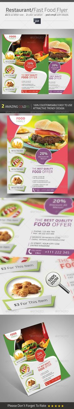 Restaurant / Fast Food Flyer Template PSD | Buy and Download: http://graphicriver.net/item/restaurant-fast-food-flyer/8550625?WT.ac=category_thumb&WT.z_author=themedevisers&ref=ksioks
