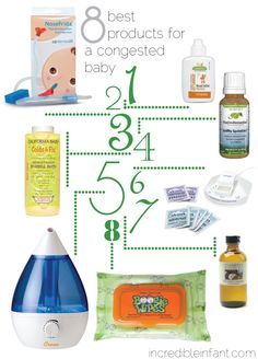The 8 Best Products for a Congested Baby.  Avoid 2am trips to Walgreens: stock up before cold season starts!