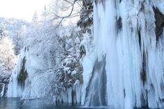 Waterfalls in winter (Plitvica lake)