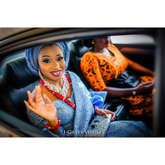 """5,028 Likes, 7 Comments - Foremost Wedding Page ❤️ (@weddingdigestnaija) on Instagram: """"Pretty Bride on board...enroute to see her King @jgatesvisuals Event by: @maitre_d_events…"""""""