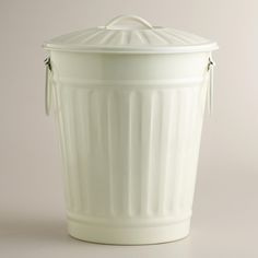 Mint Retro Galvanized Trash Can World Market 20 Yes