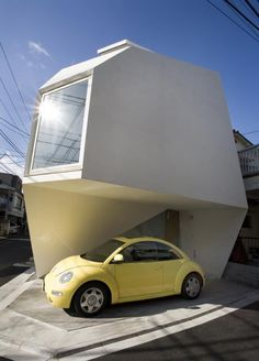 Small Modern Minimalist Home And Apartment Ideas With Unique Shaped Japanese House Architecture With White Wall And Square Glass Window Charming Small House Design Ideas Modern Tiny House, Small House Design, Modern House Design, Modern Homes, Home Design, Architecture Cool, Japanese Architecture, Installation Architecture, British Architecture
