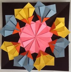 Folded Paper Radial Relief Sculpture - Mrs. Jackson's Art Room