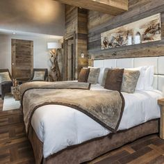 Small baby room: ideas to make this little corner special - Home Fashion Trend Rustic Bedroom Design, Rustic Master Bedroom, Master Bedroom Makeover, Home Bedroom, Bedroom Decor, Rustic Room, Suites, Luxurious Bedrooms, Cozy House