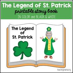 The Legend of St. Patrick – Printable Booklet. Find out why we celebrate St. Patrick's Day!