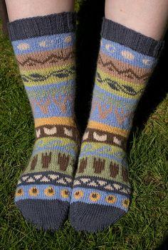 Ravelry: Wild Rumpus socks pattern by Becky Greene