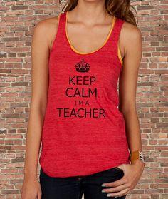 Keep Calm I'm a TEACHER Carry on Parody Womens by BluebeardStudio, $21.00