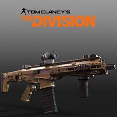 Tom Clancy's The Division - Remington/Bushmaster ACR, Mike Climer on ArtStation at https://www.artstation.com/artwork/g5A0Q