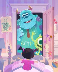 Disney Films, Disney Cartoons, Disney Pixar, Sully Monsters Inc, Disney Monsters, Joey Chou, Disney Cute, Monsters Inc University, Downtown Disney
