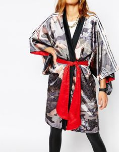 Image 3 of adidas Originals Rita Ora Reversible Kimono In Elegant Print & 3 Stripe