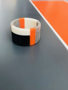 Corian® and HI-Macs® band ring. Handmade and one of a kind. Macs, Corian, Band Rings, Objects, Handmade, Crafts, Design, Hand Made, Manualidades