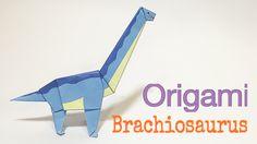 BRACHIOSAURUS TUTORIAL | EASY DINOSAUR ORIGAMI
