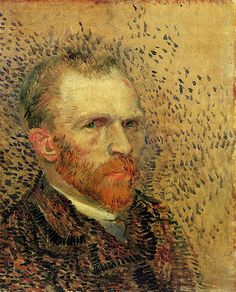 Vincent van Gogh: Self-portrait. Painting, Oil on Canvas. Paris: Spring-Summer, 1887 Van Gogh Museum: Amsterdam, The Netherlands. (info from vggallery.com)