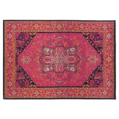 """Check out this item at One Kings Lane! 5'3""""x7'6"""" Calhan Rug, Red/Multi"""