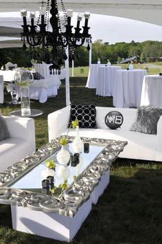 Grand Glam Grad Party Wedding Decor and Design by Something New Events Canfield, Ohio LOVE THE MIRROR TABLE