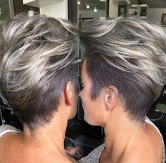 Shadow root silver grey
