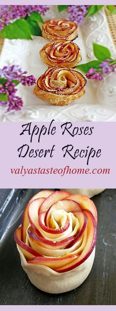 Sweet Desserts, Healthy Desserts, Just Desserts, Delicious Desserts, Yummy Food, Apple Recipes, Sweet Recipes, Apple Roses, Desert Recipes