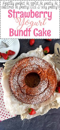 Who doesn't love cake? A good bundt cake recipe is a must-have for any home cook, and this Strawberry Yogurt Bundt Cake doesn't get any easier or more delicious! I have a love/hate relationship with yogurt. Date Recipes Desserts, Raw Desserts, Cookie Recipes, Healthy Sugar, Healthy Baking, Flavoured Yogurt, Vegan Dating, Date Squares, Fruit And Nut Bars