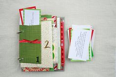 Remember this sneak peek post the other day? Thanks to all who guessed! It is, in fact, an Advent Mini Book :) I am in no way trying to rus. Christmas Love, Winter Christmas, All Things Christmas, Christmas Journal, Christmas Ideas, Christmas Calendar, Winter Fun, Handmade Christmas, Holiday Ideas