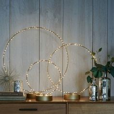 Bring your bar—or any room in the house—to light with these LED Light-Up Rings.