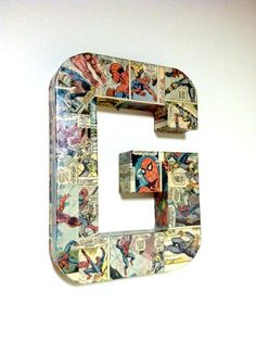 For zachy... But make it with The letter Z...Comic Book Letter Pop Art Custom Made 12 inch by HayleysPaperLove