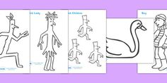 Stick Man Colouring Sheets - Stick Man, Julia Donaldson, resources, family tree…
