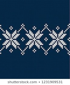 Beginner Knitting Patterns, Knit Patterns, New Year Designs, Fair Isle Pattern, Hand Embroidery Designs, Christmas Knitting, Cross Stitch Embroidery, Crochet, Tapestry