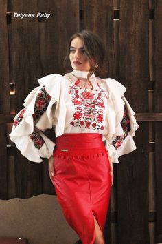 Ukrainian beauty folk fashion  Ooooo! Intriguing sleeves!!! I love how everything is covered but in no way is it boring!