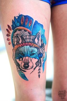 #tattoofriday - aquarelas, flores, mulheres e animais pela polonesa DŻO Lama - Joanna Świrska;