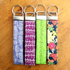 Once you learn how to easily make these key fobs, you won't be able to stop. Pattern includes two sizes. Great stocking stuffer!