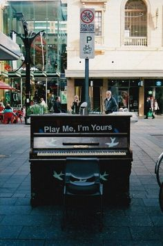 Can you imagine having pianos publicly available all over the city?