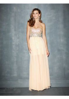 A-line Strapless Sleeveless Chiffon Light Yellow Prom Dress With Sequins #FJ072 - See more at: http://www.victoriasdress.com/prom-dresses.html?p=9#sthash.Pa762MB1.dpuf
