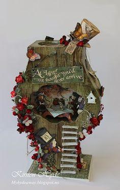 My Craft and Garden Tales: Alice in Wonderland Clock