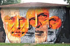 CHEAP street poster art festival 2014 - Orticanoodles - Roberto Roversi's portrait @ Pilastro, Bologna - Italy | Flickr - Photo Sharing!