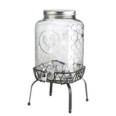 Global Amici Gallo Nero Beverage Dispenser with Stand - ShopStyle Kitchen Wine Goblets, Beverage Dispenser, Iced Tea, Joss And Main, Canisters, Glass Jars, Lemonade, Vintage Inspired