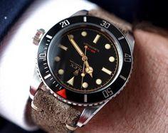 Closer...! - The Ref 216A Red Depth Submariner. The only modern Rolex with a true gilt dial, coin edge bezel, lug holes, and more. This Handcrafted Customized Timepiece is exclusively by Tempus Machina.