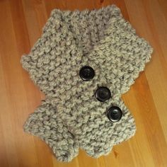 neck warmer with Three plastic buttons Grey Marble Neck Warmer, Knits, Hand Knitting, Marble, Plastic, Buttons, Grey, Black, Gray
