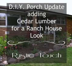 DIY Updates that add a ranch or rustic feel for less money