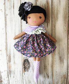 Seriously the prettiest girl  I adore how this custom doll turned out!  #spuncandydolls #handmadedolls #bespokedoll #customorder #nycbound #headingtobrooklyn #africanamericandoll