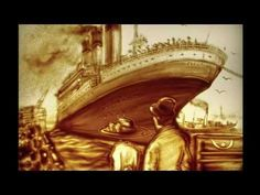 Sand painting for  'Titanic' By Chinese Artist Feng Xian Music : My Heart Will Go On