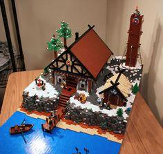 Amazing LEGO Viking Longhouse Village.