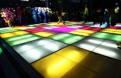 Turn your black light party into a party to remember--transform that floor into colors galore!