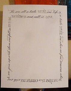 PhotoMat calligraphy (www.letterladysletters.blogspot.com)