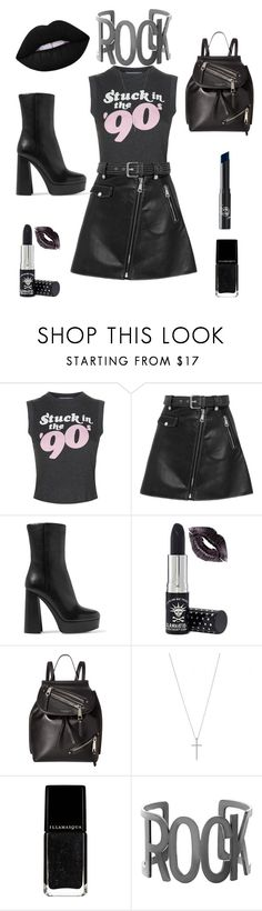 """""""Rock Chic"""" by alipanxo ❤ liked on Polyvore featuring Wildfox, Maje, Miu Miu, Manic Panic NYC, Marc Jacobs, Steve Madden, Rituel de Fille, rock and grunge"""