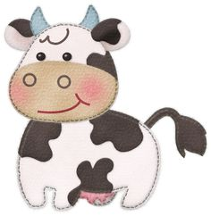 Photo by - Minus Hand Embroidery Patterns, Applique Patterns, Machine Embroidery, Sewing Toys, Sewing Crafts, Pach Aplique, Crochet Cow, Baby Applique, Baby Painting