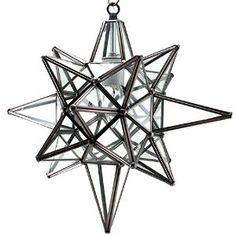 Amazon.com - Star of Bethlehem, Moravian Star Pendant, Clear Glass, Bronze Frame, 12x15 -